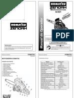 Manual Motosserra Komatsu