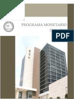 Programa Monetario 2018 2019