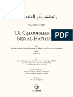 De Geloofsleer Van Bishr Al-Hafi (AR-NL) - Al-Imam Bishr Ibn Al-Harith Al-Hafi (227H)