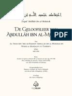 De Geloofsleer Van Abdullah Ibn Al-Mubarak (AR-NL) - Al-Imam Abdullah Ibn Al-Mubarak