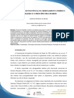 Presunção de Inocência No Ordenamento Jurídico Brasileiro e o Princípio Pro Homine