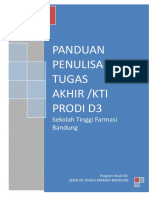 Format Panduan Penulisan Tugas Akhir D3,2014, A4-1