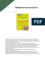Manual de Inteligencia Emocional Para Niños PDF - Documentos de Google