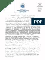 Notice of Public Auction FOC
