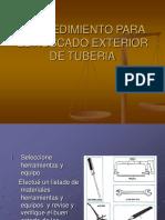 PROCEDIMIENTO PARA EL ROSCADO EXTERIOR DE TUBERIA.ppt