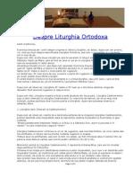 Despre Liturghia Ortodoxa