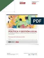 Maestría Política y Gestión Local 2019 UNSAM