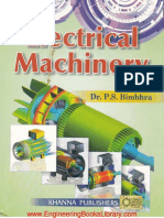 Electrical Machinery by Dr P S Bimbhra
