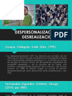 Despersonalización y Desrealización