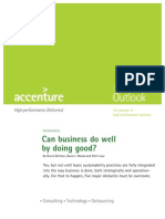 Accenture Outlook Can Business Do Well by Doing Good Sustainability