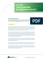 Programa III Taller de Nuevos contenidos de Negociación Colectiva