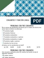 Conjuntos y Función Lineal