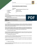 Pliego de Especificaciones Tecnicas Tacchi 2