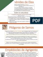 Biofilo Parmenides, Pitagoras y Empedocles
