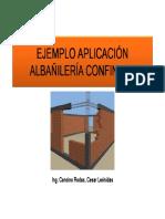 Diseño Albañileria Ejemplo Aplicación