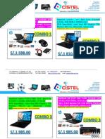 Proformas de laptop + impresora epson l380