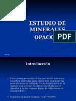 Estudio de Minerales Opacos