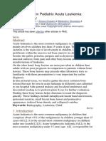 Bony Lesions in Pediatric Acute Leukemia