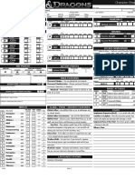 Character Sheet - Alternative 2