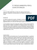 PROBLEMÁTICA Y RIESGO AMBIENTAL POR EL USO DE PLAGUICIDAS EN SINALOA.docx