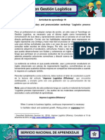 Evidencia 1 Vocabulary and Pronunciation Workshop Logistics Process Improvement