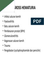 DD Gross Hematuria
