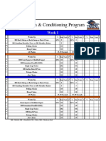 UTSA 12 Week Lifting Program