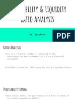 Profitability Liquidity Ratio Analysis Investment Appraisal
