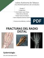 Fx de radio distal