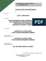 Memoria de Calculo Daniel Espinoza Galindo