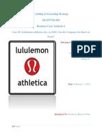 Case #2 Lululemon Athletica Inc.
