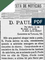 Dona Paula no Gazeta de Notícias