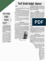 Daily Tribune, Feb. 8, 2019, Deal breaks budget impasse.pdf