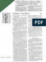 Manila Bulletin, Feb. 8, 2019, Solons Declare Manila Bay reclamation-free zone.pdf