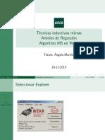 Arboles de Regresion WEKA 2016-2017