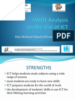 SWOT Analysis on the Use of ICT(3)