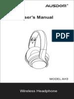 Ausdom Ah3 User Manual