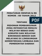 Permen PAN 60 tahun 2012