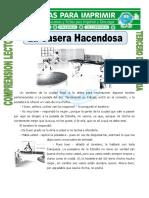 Ficha La Casera Hacendosa Para Tercero de Primaria