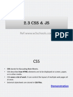 Chapter 2.3 CSS & JS