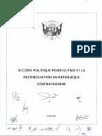 Accord de paix centrafricain - Février 2019