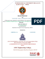 employee leave management system project report vtu
