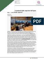 Urbino, 2300 studenti delle scuole superiori a Università Aperta - Pu24.it, 7 febbraio 2019