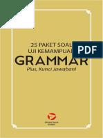25 Paket Soal Uji Kemampuan Grammar