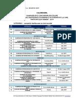 Calendar Olimpiade Concursuri Internationale 2019