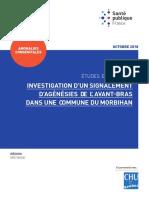 Rapport Investigation Signalement Agenesies Avant Bras Commune Morbihan