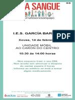 Doazón de sangue no IES García Barbón