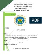 Características de Las Bases de Datos Geográficas y Con Los Sistemas de Información Geográfica