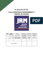 PL-GCLD-PLA-GT-001. Plan de Gestión de Aseguramiento y Control de Calidad