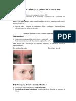 Roteiro de Clinicas Olhos[3820] semiologia cabeça e pescoço